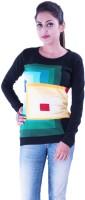 Pazaro Solid Round Neck Casual Women's Sweater - SWTEYKSWPTHRBQHN