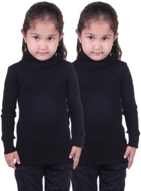 Lienz Striped Turtle Neck Casual Girl's Sweater