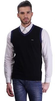 Tsavo Solid V-neck Casual Men's Sweater
