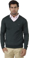 Arrow Solid V-neck Formal Men's Sweater - SWTEFGDUPGTDTTXT