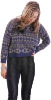 Lioness Geometric Print Round Neck Casual Women's Sweater