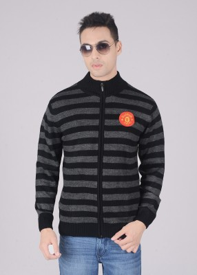 Manchester United Striped High Neck Men's Sweater