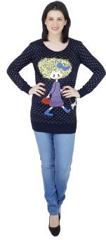 Camey Polka Print Round Neck Casual Women's Sweater - SWTEAZGU8BESRV2H