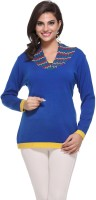 Madrona Solid Round Neck Casual Women's Sweater