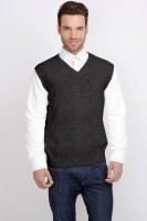 ALX New York Solid V-neck Casual Men's Sweater - SWTDSG9YHUFHTUCY