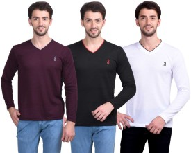 Eprilla Solid V-neck Casual Men's Sweater