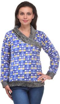 V2k Fashion Polka Print V-neck Casual Women's Sweater - SWTEAJY7HGEXDWHZ