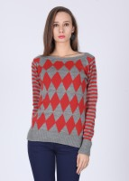 Jealous 21 Geometric Print Round Neck Casual Women's Sweater
