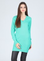Puma Solid V-neck Casual Women's Sweater