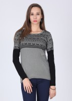 Jealous 21 Printed Round Neck Casual Women's Sweater