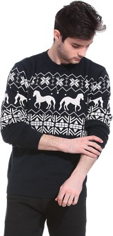 Claude 9 Printed Crew Neck Men's Sweater