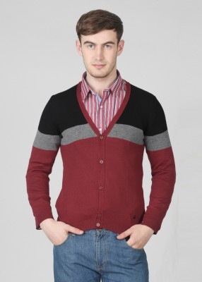 United Colors of Benetton Striped V-neck Casual Men's Sweater