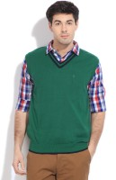 Indian Terrain Solid V-neck Casual Men's Sweater - SWTDZZHQZXANVTQZ