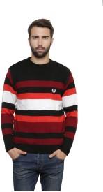 Leebonee Striped Round Neck Casual Men's Sweater