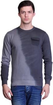 TSAVO Solid Round Neck Casual Men's Sweater