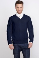 ALX New York Solid V-neck Casual Men's Sweater - SWTDSG9YAKNF4ZCH