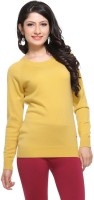 Madrona Solid Round Neck Casual Women's Sweater - SWTEY8SA36JMXYTZ