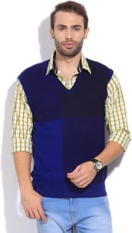 Arrow New York Solid V-neck Casual Men's Sweater