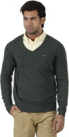 Arrow Solid V-neck Formal Men's Sweater - SWTEFGDU4BPJMYZR