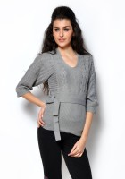 Fashley London Solid Scoop Neck Casual Women's Sweater