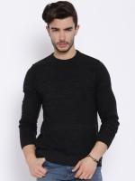 HRX Self Design Round Neck Casual Men's Sweater