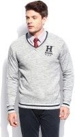 Harvard Solid V-neck Casual Men's Sweater - SWTEFHNZHHZMUDQF
