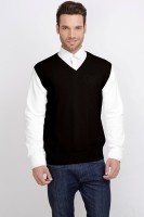 ALX New York Solid V-neck Casual Men's Sweater - SWTDSG9YMBN7FZBS