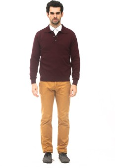ALX New York Solid Turtle Neck Casual, Formal Men's Sweater