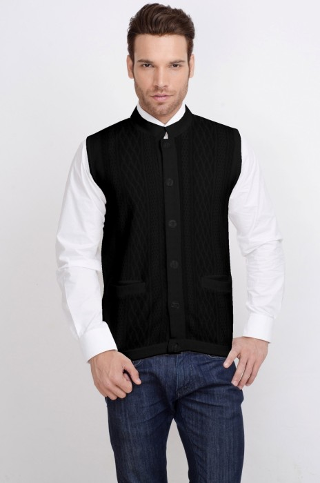 ALX New York Solid Turtle Neck Casual Men's Sweater