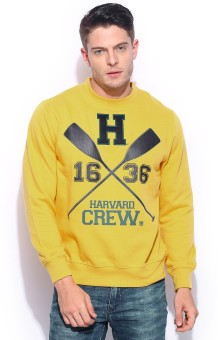 Harvard Full Sleeve Printed Men's Sweatshirt