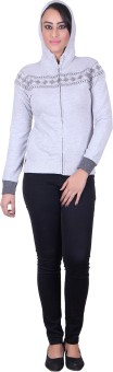 Melzo Full Sleeve Embroidered Women's Sweatshirt - SWSEDEDQNVC3F6G5