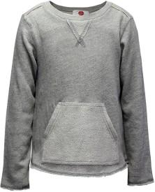 The Cranberry Club Full Sleeve Solid Girl's Sweatshirt