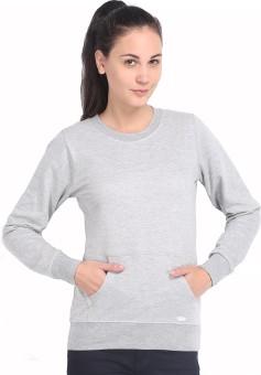 Espresso Winter Wear Full Sleeve Solid Women's Reversible Sweatshirt