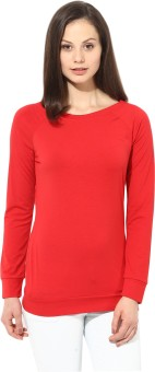 T-shirt Company Full Sleeve Solid Women's Sweatshirt - SWSEASYJ2NZE5BKF