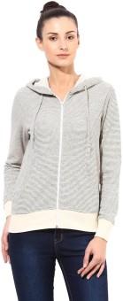 Tshirt Company Full Sleeve Striped Women's Sweatshirt