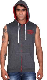 LUCfashion Sleeveless Solid Men's Sweatshirt