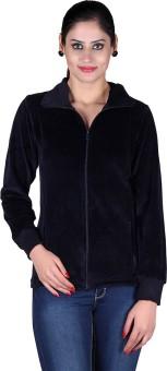 Vivid Bharti Velvet Shearing Top Full Sleeve Solid Women's Sweatshirt - SWSE62Q2FPWXVXTW