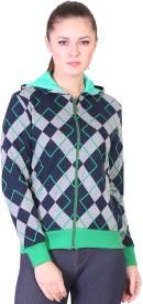 Miss Grace Full Sleeve Checkered Women's Sweatshirt