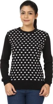 Black Sheep Full Sleeve Woven Women's Sweatshirt - SWSEADCDJDVHKTFN