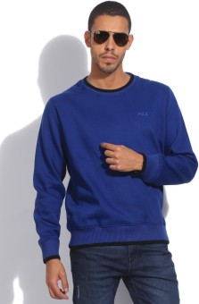 Fila Full Sleeve Solid Men's Sweatshirt - SWSEB88UNZCGYZG6