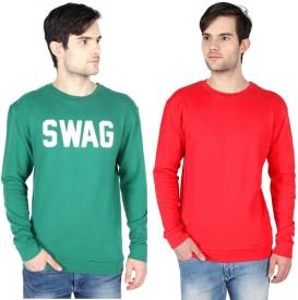 Threads & Pals Full Sleeve Printed, Solid Men's Sweatshirt