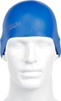 Speedo Plain Moulded Silicone Cap Swimming Cap (Blue, Pack Of 1)
