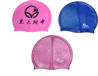 Metro Sports Water Hair Protection Gear Swimming Cap (Multicolor, Pack Of 3)