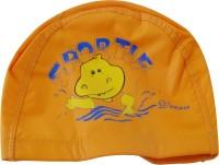 Toygully PU Coated Swimming Cap / Nylon Swim Cap / Children Swimming Cap (Orange, Pack Of 1)