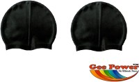 Gee Power Imported (Set Of 2) Swimming Cap (Black, Pack Of 2)
