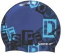 Speedo Slogan Print Swimming Cap - Blue, Pack Of 1