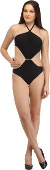 Secret Wish Wireless Black Monokini Solid Women's