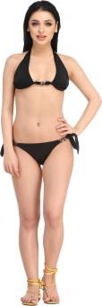 N-Gal Halter Neck Bikini Set Solid Women's