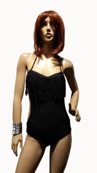 Kunchals Single V Shape With Haulter Neck Swimwear Solid Women's