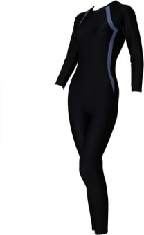 Freestyle Full Legsuit With 3/4th Sleeves With Ykk Zip And Pad Solid Women's